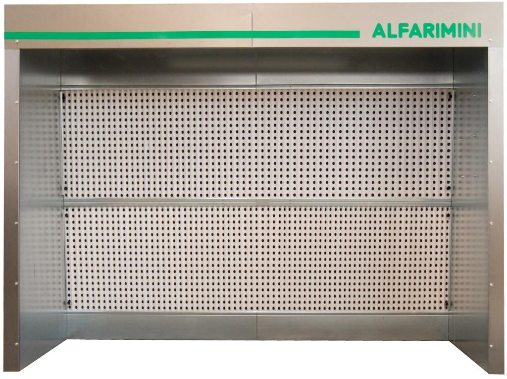 Cabina di verniciatura a secco catalogo alfarimini for Cabina con avvolgente portico